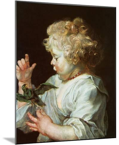 Child with a Bird, c.1616-Peter Paul Rubens-Mounted Art Print