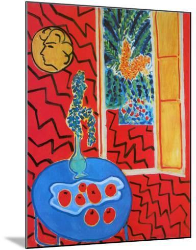Red Interieur, Still Life on a Blue Table, c.1947-Henri Matisse-Mounted Art Print