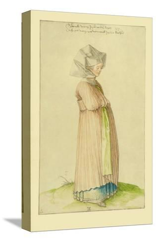 Woman in Nuremberg in a Robe for Church-Albrecht D?rer-Stretched Canvas Print