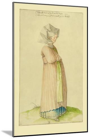 Woman in Nuremberg in a Robe for Church-Albrecht D?rer-Mounted Collectable Print