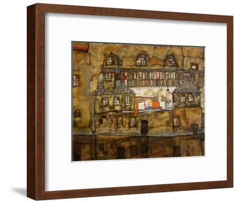 Wall of House by the River, c.1915-Egon Schiele-Framed Art Print