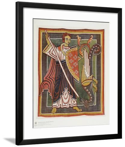 Archangel Michael the Dragon Killer--Framed Art Print