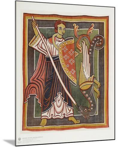 Archangel Michael the Dragon Killer--Mounted Collectable Print
