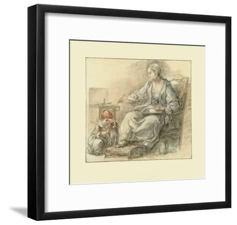 Lady Writing-Francois Gu?rin-Framed Art Print