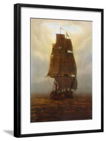 Sailing Ship-Caspar David Friedrich-Framed Art Print