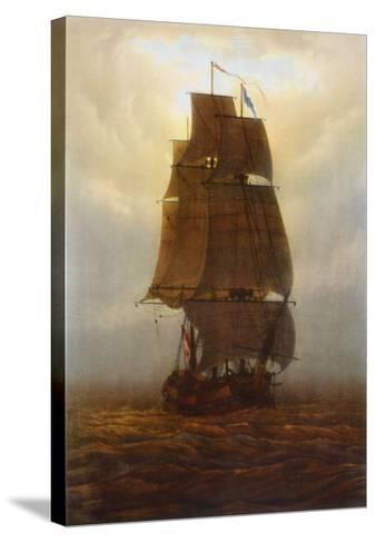 Sailing Ship-Caspar David Friedrich-Stretched Canvas Print