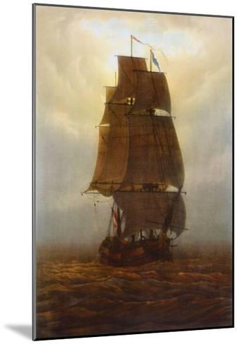 Sailing Ship-Caspar David Friedrich-Mounted Collectable Print