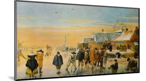 Ice Bowling-Hendrick Avercamp-Mounted Collectable Print