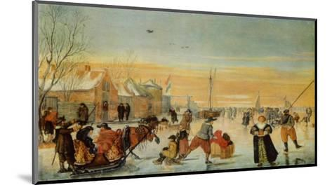 Sledding and Ice Skating-Hendrick Avercamp-Mounted Collectable Print