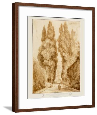 Park at the Villa d'Este-Jean-Honor? Fragonard-Framed Art Print