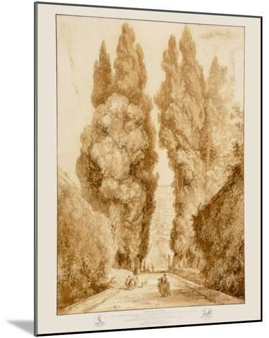 Park at the Villa d'Este-Jean-Honor? Fragonard-Mounted Collectable Print