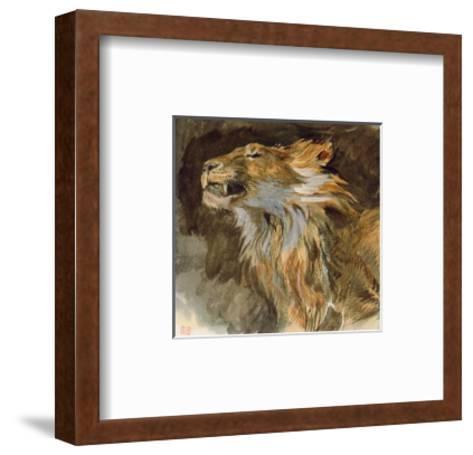 Head of a Lyon-Eugene Delacroix-Framed Art Print