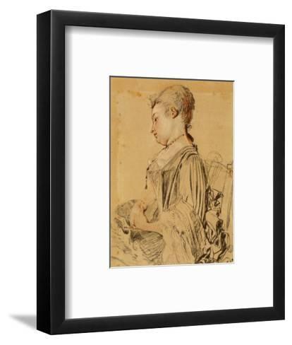 Seated Woman-Antoine Watteau-Framed Art Print