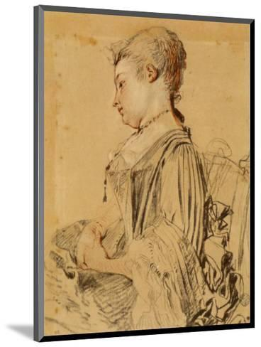 Seated Woman-Antoine Watteau-Mounted Collectable Print