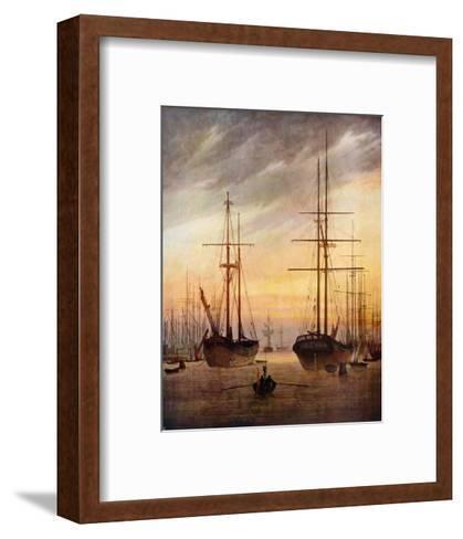 The Harbour of Greifswald-Caspar David Friedrich-Framed Art Print