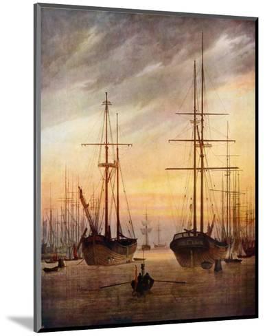 The Harbour of Greifswald-Caspar David Friedrich-Mounted Art Print