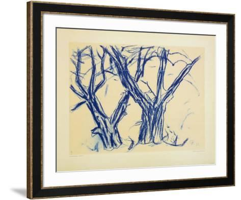 Two Old Lime Rrees-Christian Rohlfs-Framed Art Print