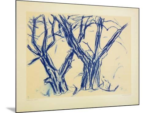Two Old Lime Rrees-Christian Rohlfs-Mounted Collectable Print