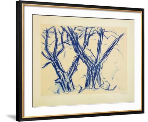 Two Old Lime Rrees-Christian Rohlfs-Framed Art Print