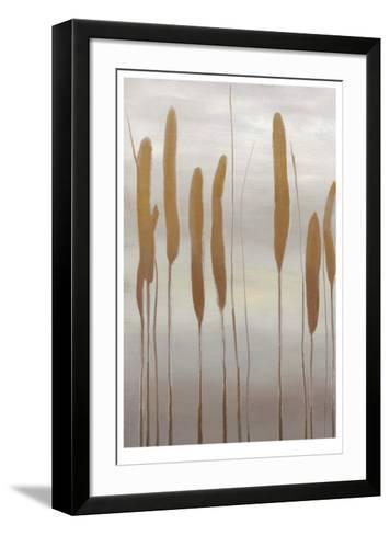 Reeds and Leaves II-Jennifer Goldberger-Framed Art Print