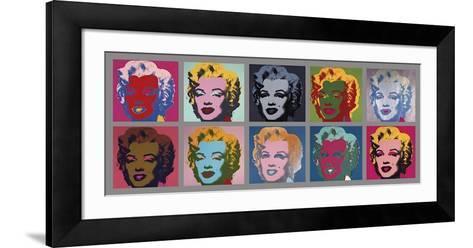 Ten Marilyns, c.1967-Andy Warhol-Framed Art Print