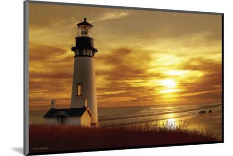 Lighthouse at Sunset-Carlos Casamayor-Mounted Art Print