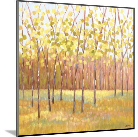 Yellow and Green Trees (center)-Libby Smart-Mounted Art Print