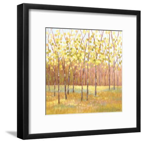 Yellow and Green Trees (center)-Libby Smart-Framed Art Print