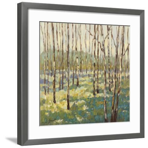 Trees in Blue Green-Libby Smart-Framed Art Print