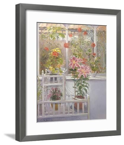 Through the Conservatory Window-Timothy Easton-Framed Art Print