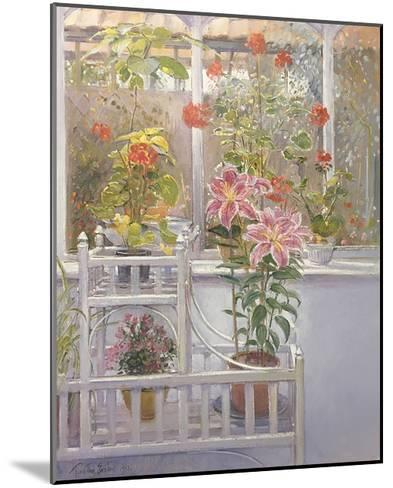 Through the Conservatory Window-Timothy Easton-Mounted Art Print