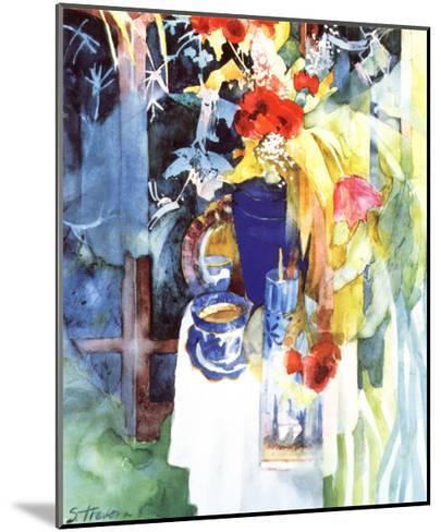 Red Silk Poppies-Shirley Trevena-Mounted Art Print