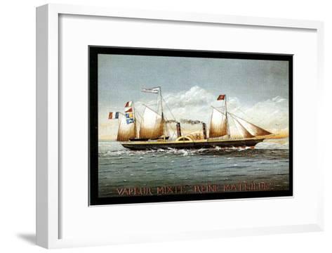 Vapeur Mixte Reine Mathilde-Dominique Perotin-Framed Art Print