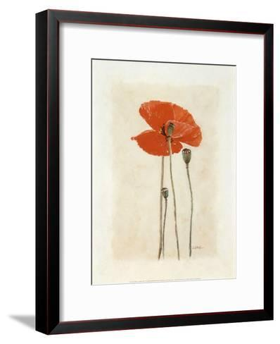 Coquelicot IV-Laurence David-Framed Art Print