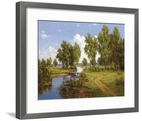 Bridge Over Brook-Slava-Framed Art Print
