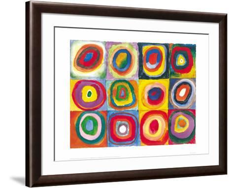 Farbstudie Quadrate, c.1913-Wassily Kandinsky-Framed Art Print