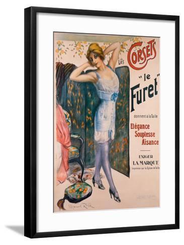 Corsets le Furet-Manuel Robbe-Framed Art Print