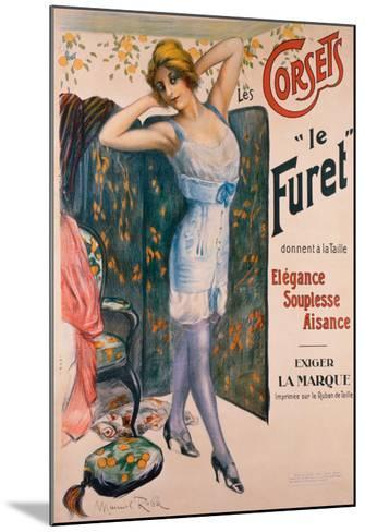 Corsets le Furet-Manuel Robbe-Mounted Giclee Print
