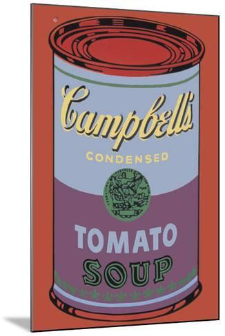 Campbell's Soup Can, 1965 (Blue and Purple)-Andy Warhol-Mounted Giclee Print