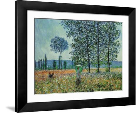 Felder im Frühling-Claude Monet-Framed Art Print
