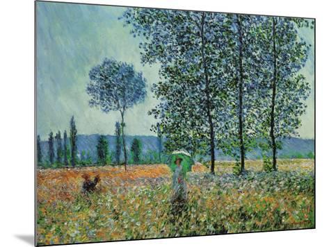 Felder im Frühling-Claude Monet-Mounted Art Print