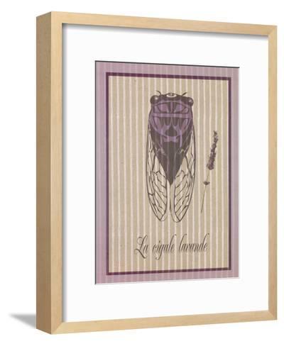 Cigale Lavande--Framed Art Print