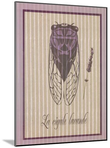Cigale Lavande--Mounted Art Print