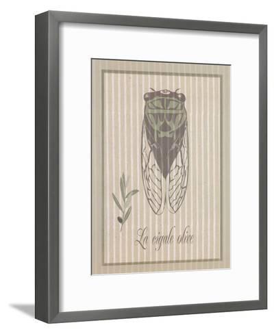 Cigale Olive--Framed Art Print