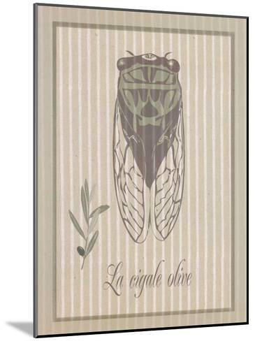 Cigale Olive--Mounted Art Print