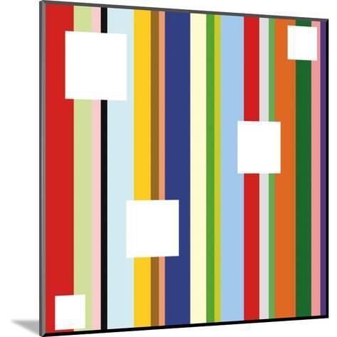 White Square on Stripe (detail)-Dan Bleier-Mounted Art Print