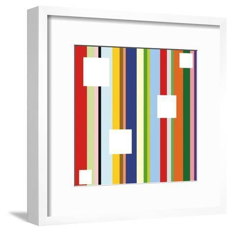 White Square on Stripe (detail)-Dan Bleier-Framed Art Print