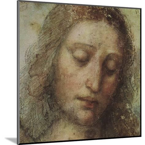 Study of Christ for Last Supper (detail)-Leonardo da Vinci-Mounted Art Print