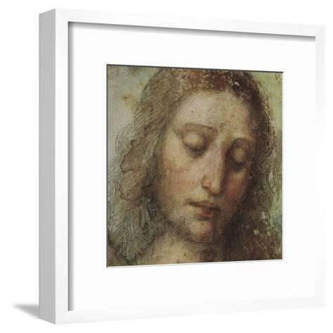 Study of Christ for Last Supper (detail)-Leonardo da Vinci-Framed Art Print