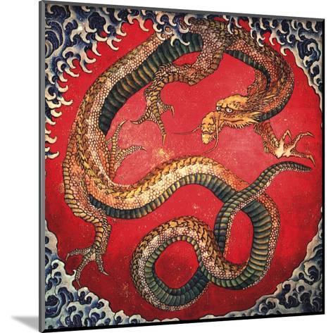 Dragon (detail)-Katsushika Hokusai-Mounted Art Print